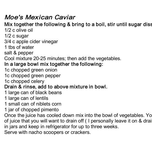 Mexican caviar is right
