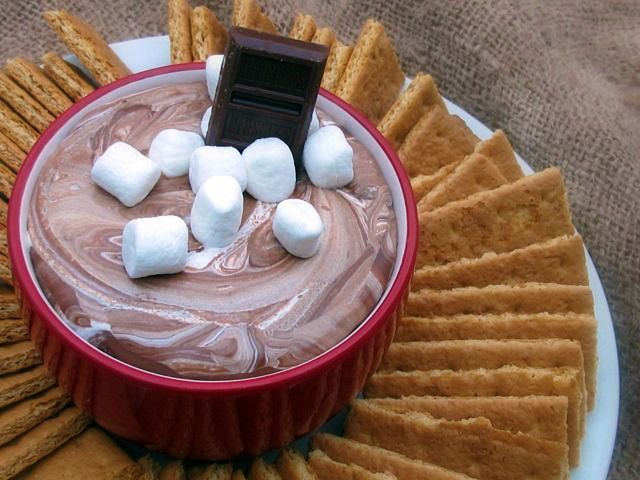 s'mores dip. For indoor camping night.