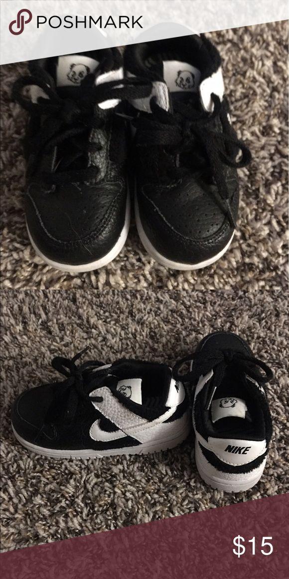 Boys Labron Shoes Black Velcro