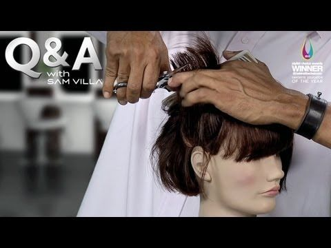 """What is the best way to achieve a soft, wispy line on the bottom of a bob and not end up with a triangular or round shape? Watch as Sam Villa demonstrates two methods that will help to collapse the shape of the bob and also create a soft perimeter. Watch now!    Discover how to cut Sam's version of the modern bob in his DVD, """"BOBology."""" Get it now..."""