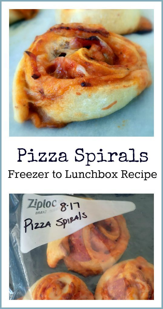Pizza Spirals - an easy, delicious recipe that goes from freezer to lunchbox!