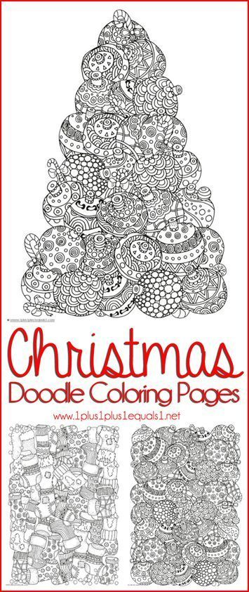 Christmas Doodle Coloring Pages for Adults or Kids! {FREE} (scheduled via http://www.tailwindapp.com?utm_source=pinterest&utm_medium=twpin&utm_content=post23340532&utm_campaign=scheduler_attribution)