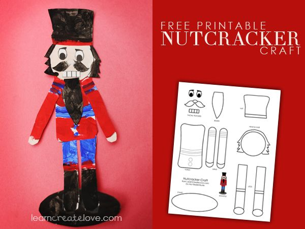 { Printable Nutcracker Craft } may be a little too much for my young ones but way cute