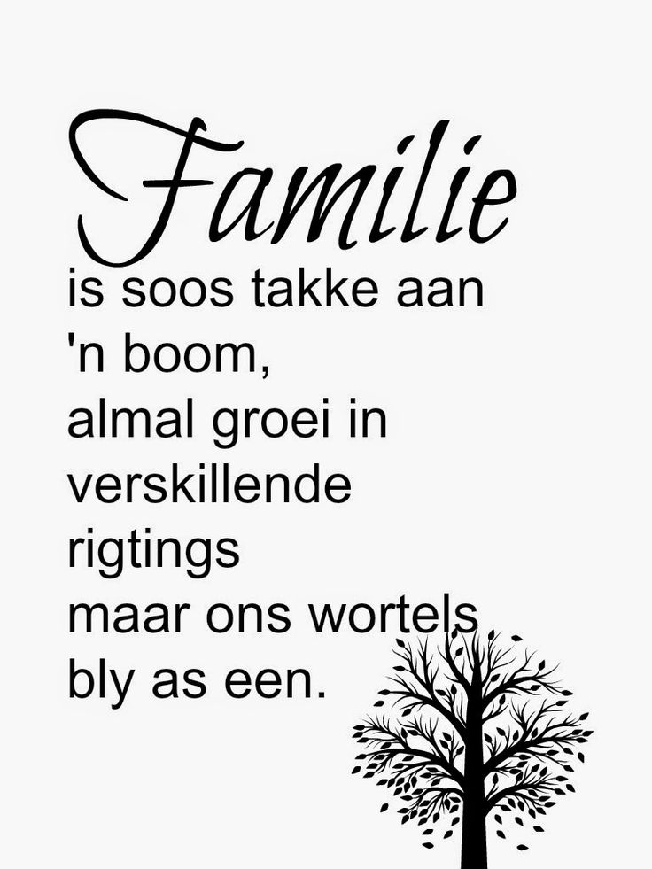 Familie is een !!
