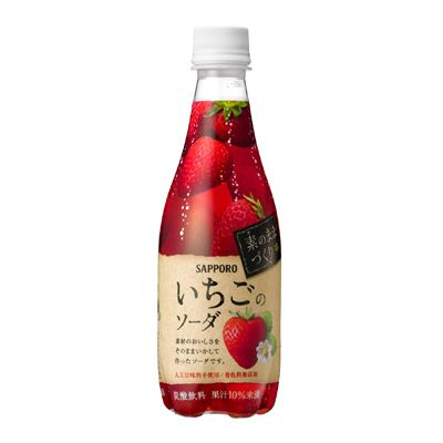 素のままづくり いちごのソーダ - 食@新製品 - 『新製品』から食の今と明日を見る!
