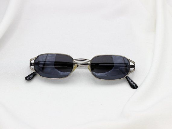 Square Metal Frame 90s Grunge Sunglasses Vintage Rectangle Sunnies Unisex Glasses 90s Fashion Dark Tin Unisex Glasses Sunglasses Vintage Tinted Glasses