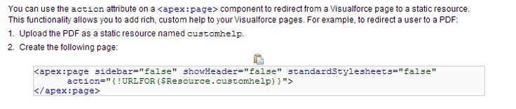 Displaying a PDF static resource on an apex page