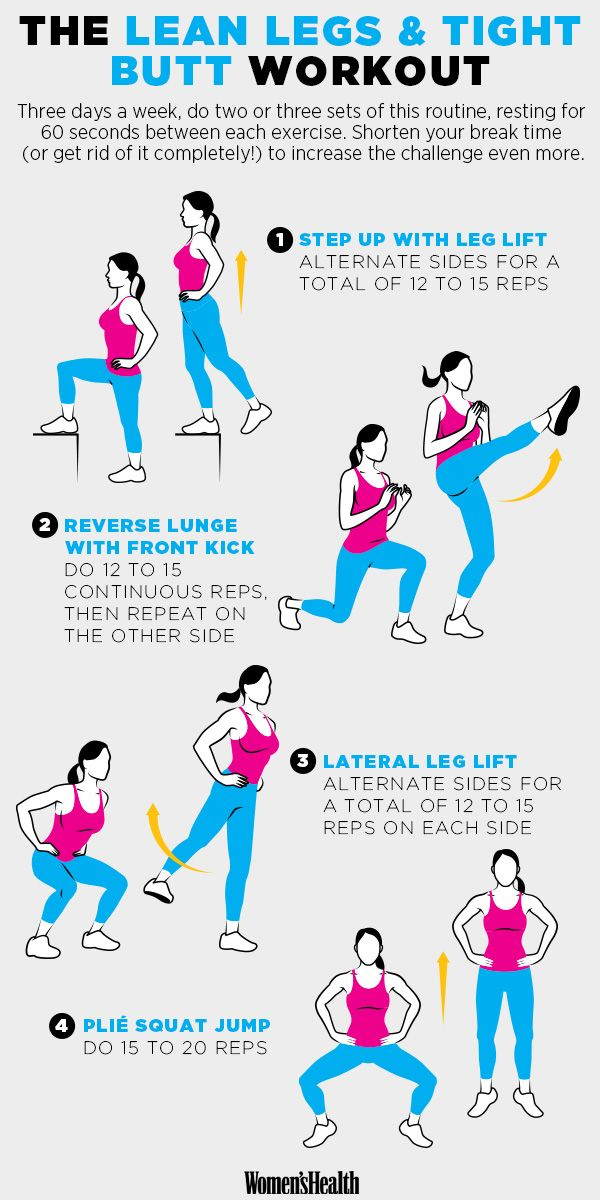 4 Moves for Lean Legs and a Tight Butt  http://www.womenshealthmag.com/fitness/bottom-half-sculpting