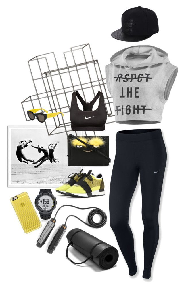 #13  Exercise time by alzbeta-zlochova on Polyvore featuring polyvore, fashion, style, Reebok, NIKE, Balenciaga, Fendi, Suunto, Casetify, CÉLINE and Dot & Bo