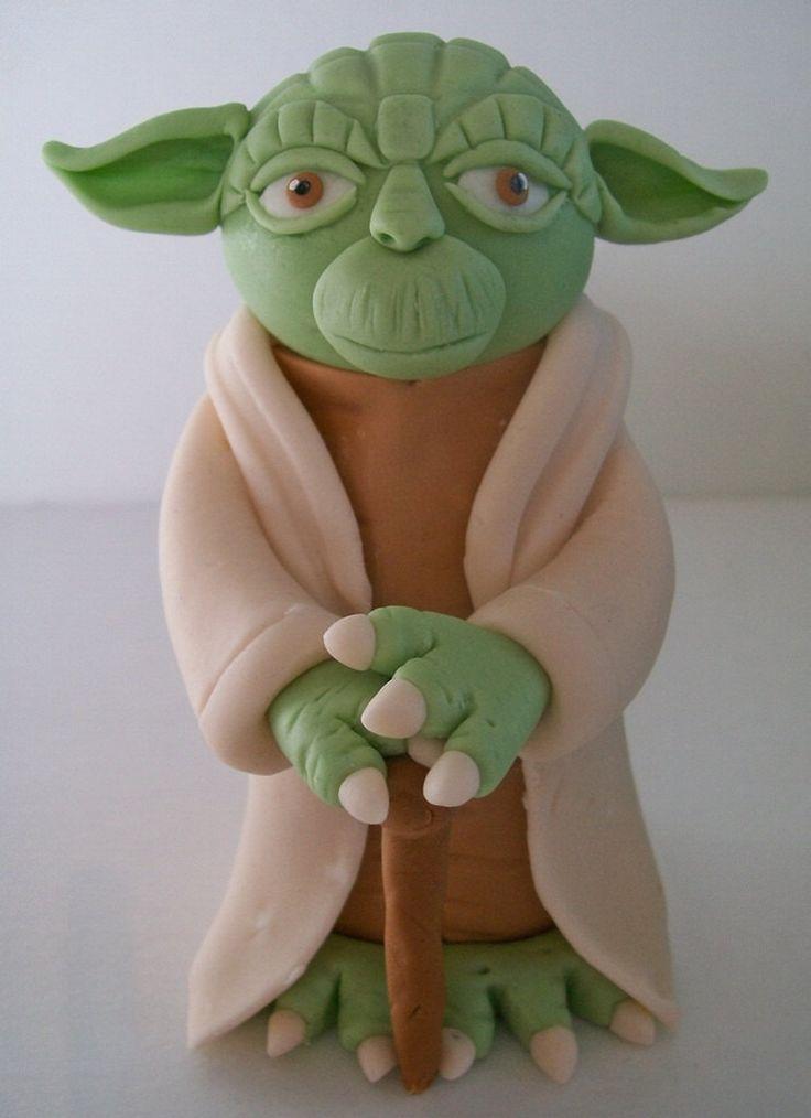 Star Wars Cake Topper Yoda by FondantFads on Etsy