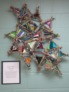 Art is Happening: 7th Grade Natural Loom Weaving http://makingart1.blogspot.com/2012/12/7th-grade-natural-loom-weaving.html