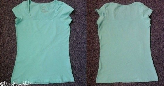 How to make a bow top. DIY Bow Back Shirt - Step 1