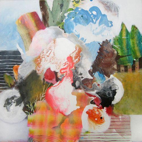 "SMOKE - Acrylic on canvas, 36"" x 36"" / 91m x 91cm, 2010"