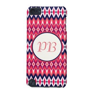 Elegant tribal rhombus native pattern duogram ipod touch 5G #tribal #rhombus #pink #duogram #pattern #native #girly #stylish #sassy #classy #gift