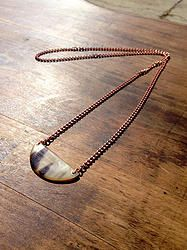Demi Moon Necklace - $25 - Horn & Bone Collection - All natural materials. Handmade in Haiti. Support job creation in Haiti! Shop @ elishac.com
