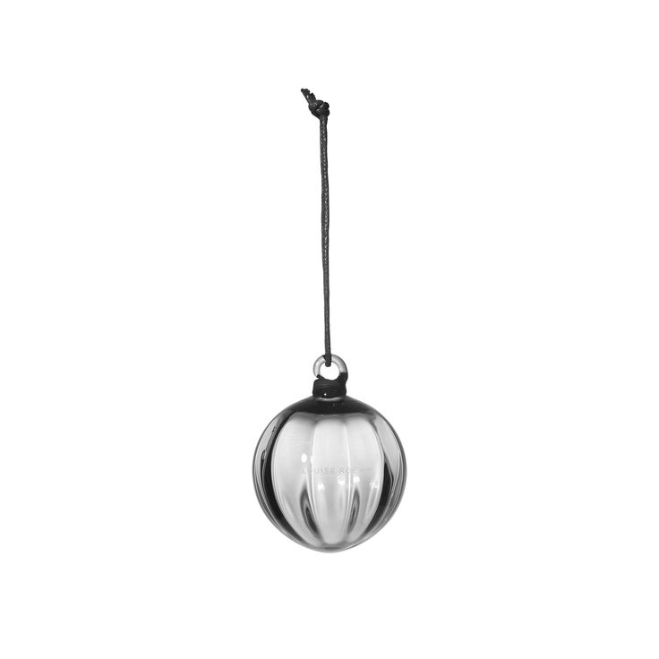 LOUISE ROE COPENHAGEN CHRISTMAS DECORATION AW15  MOUTH BLOWN GLASS BULB CLEAR