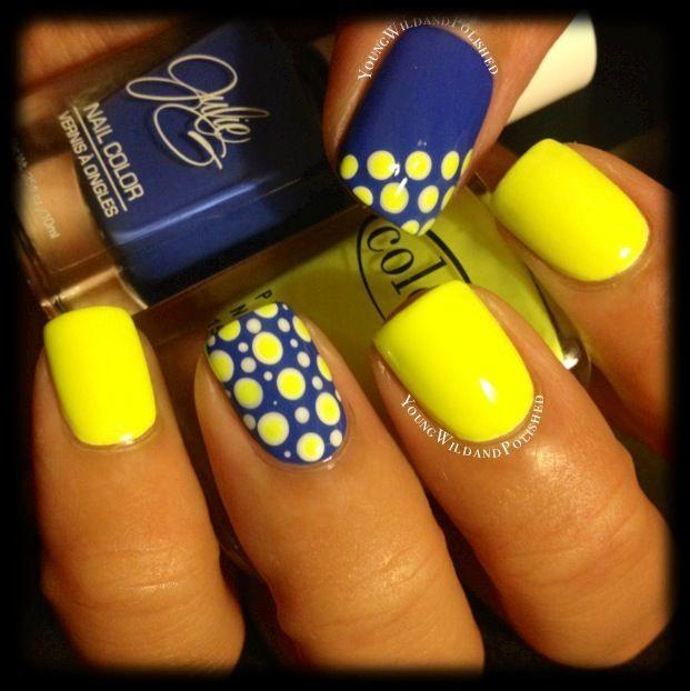 Best 25 yellow nail art ideas on pinterest yellow nails design 30 best polka dots nail art ideas prinsesfo Choice Image