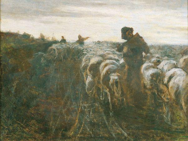 Giovanni Segantini (1858-1899) - Il ritorno dal pascolo - Collezione privata