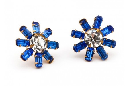 little pretties $98: Crystals Cobalt, Cobalt Ears, Posts, Jewelry Earrings, Low Buns