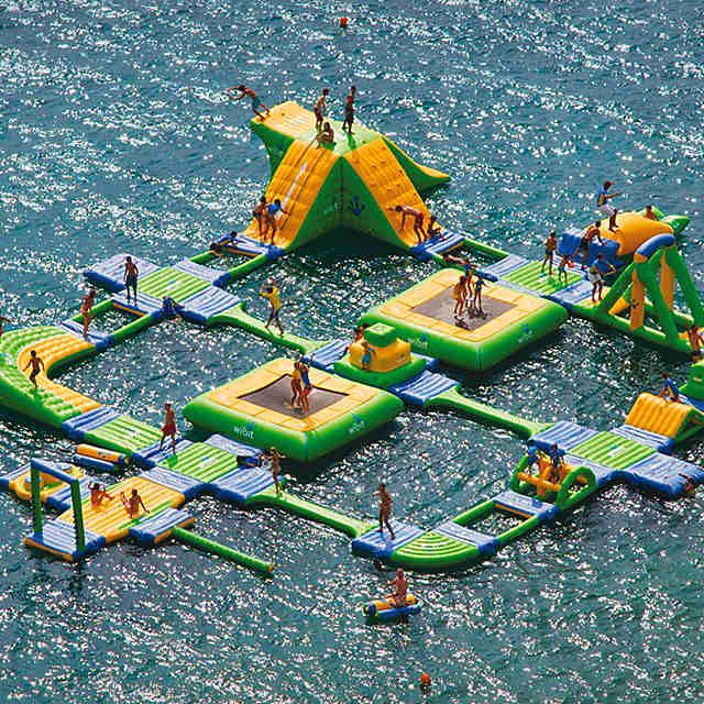 Inflatable water park                                                                                                                                                     More