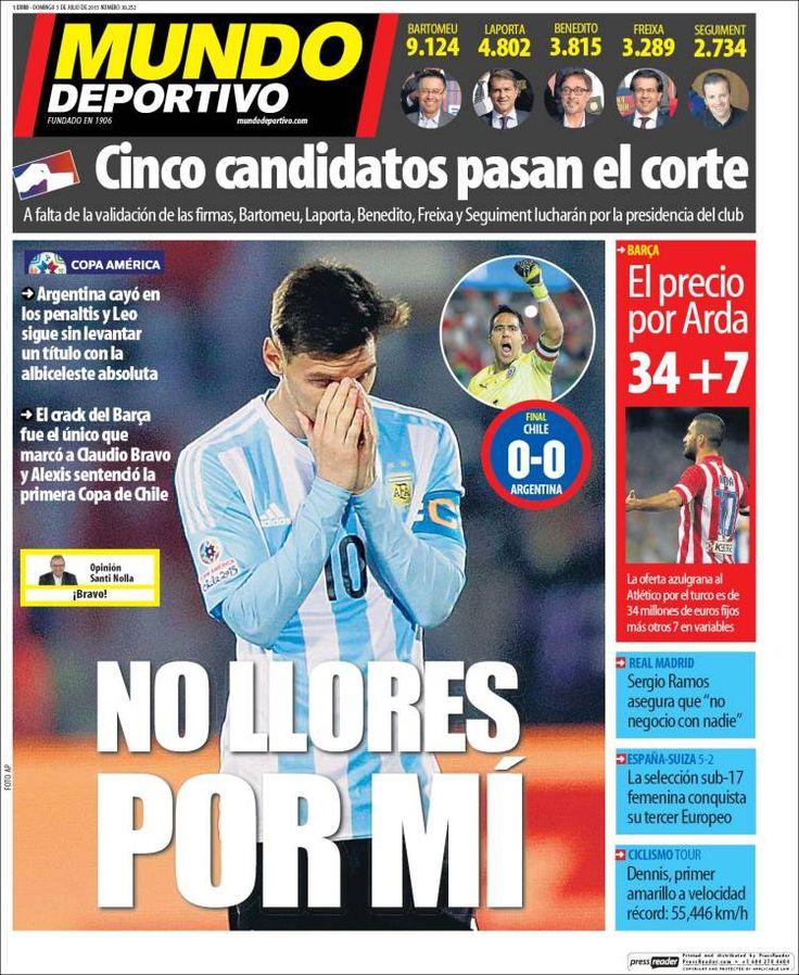 Portada Mundo Deportivo 5/07/2015