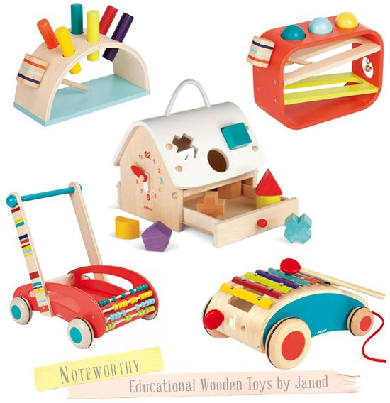 Wooden Toys for Baby & Toddler. . . made from France so tres expensive! But super cute :)
