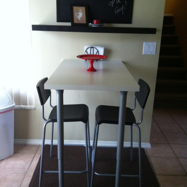 An Ikea Table Top, 2 Extending Table Legs, 2 L Brackets, And Two