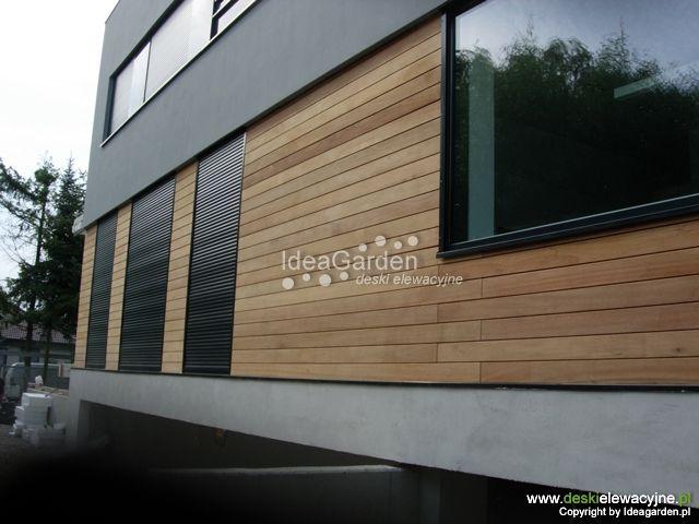 Znalezione obrazy dla zapytania elewacja drewniana w poziomie