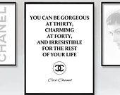 Citation de Coco Chanel, Coco Chanel devis imprimable, impression de Coco Chanel, Coco Chanel Wall Art, Coco Chanel Wall Decal, citation, affiche