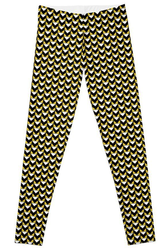 8721f84451 Active Wear, Womens Printed Leggings,Abstract Triangle Yoga Leggings,Yoga  Pants,Black Yellow White,Workout Leggings,Compression Tights by ...