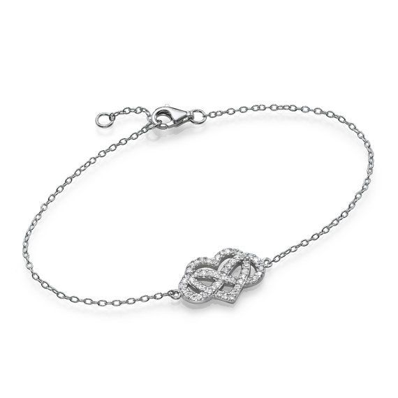 Sterling Silver Love Knot Heart Eternity Symbol by Jewels4Freedom