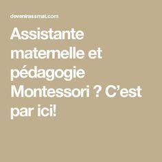 Assistante maternelle et pédagogie Montessori ? C'est par ici!