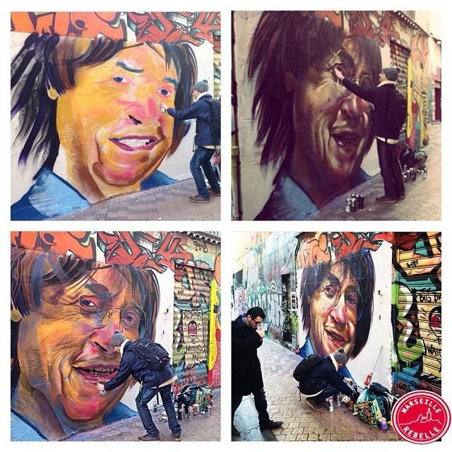 Tribute to Cabu (from #CharlieHebdo)   by Juis   Marseille, Cours Julien, France