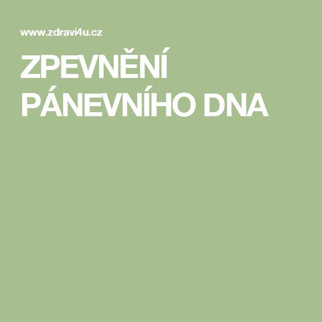 ZPEVNĚNÍ  PÁNEVNÍHO  DNA