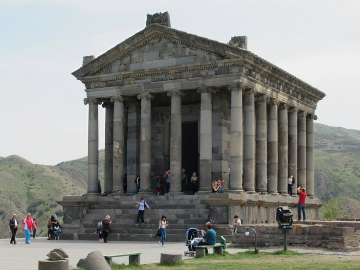 This reconstructed 1st century AD Pagan Temple dedicated to the God of the Sun at Garni, Armenia, was originally part of a complex providing a summer residence for Armenian royalty.