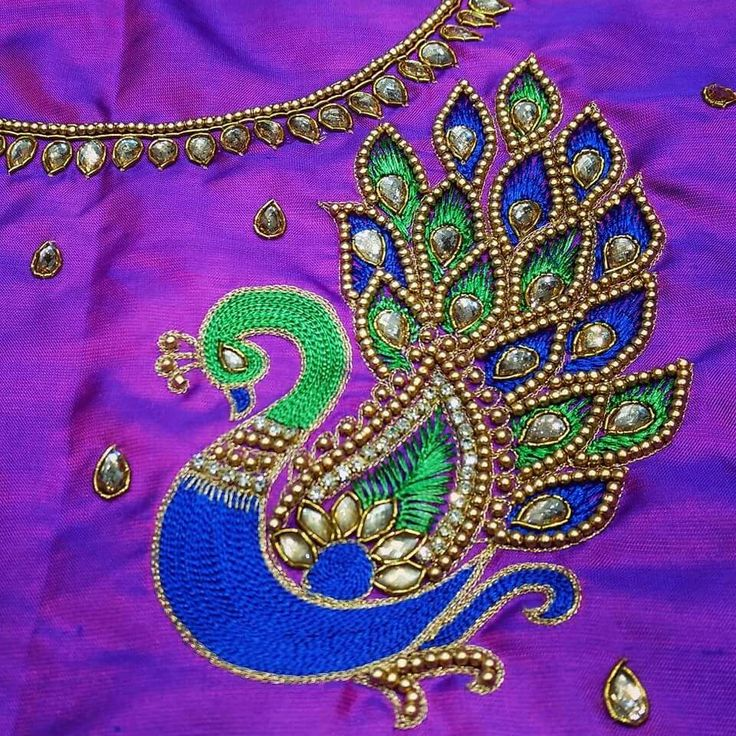 Best aari embroidery work images on pinterest blouse