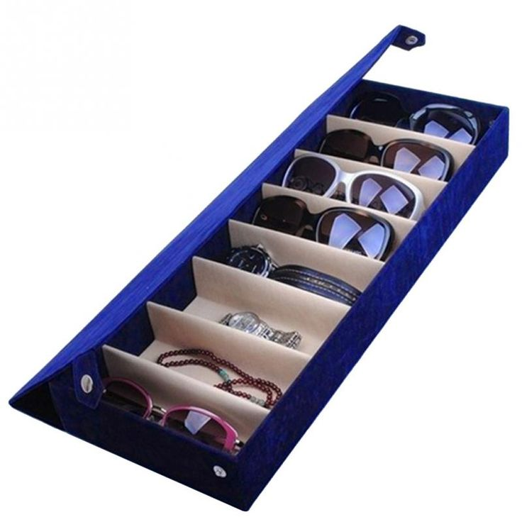 Glasses Eyeglass Sunglasses Storage Case Display Grid Stand Box Holder 8 Slot