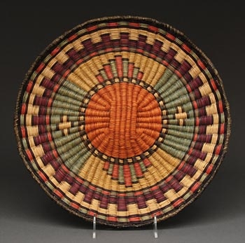 Twined Wicker Plaque, circa 1970's (Hopi) http://www.heardmuseumshop.com/browse.cfm/4,11207.html
