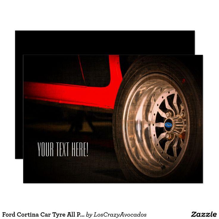 Ford Cortina Car Tyre All Purpose Invitation