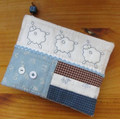 great sheep stitchy pouch