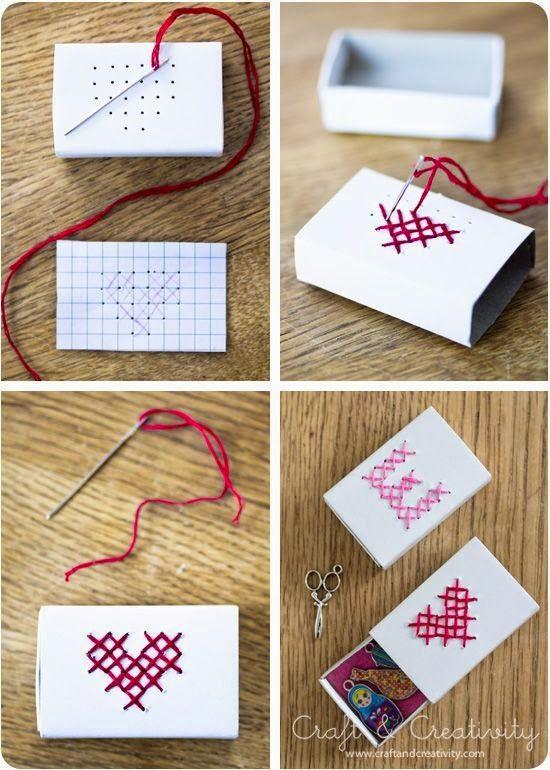 Bir kendin yap fikri daha sizlerle :D Küçük bir hediye kutusu yapmaya ne dersiniz? #kendin yap #love #yaratıcıfikirler #decorating