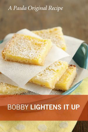 Paula Deen Bobby's Lighter Lemon BarsLighter Lemon, Lemon Bars, S'More Bar, S'Mores Bar, Summer Desserts, Bar Recipe, Desserts Bar, Deen Lemon, Paula Deen