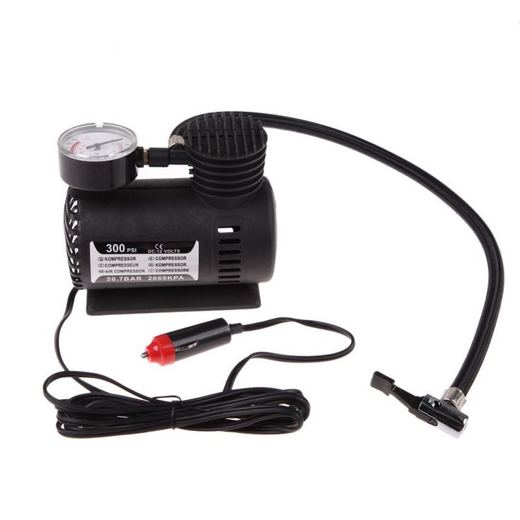 buy portable versatile 12v auto car electric air compressor universal bicycle motor tire tyre #electric #bicycle #motor