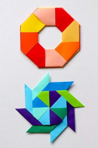 How to make paper transforming ninja stars. A fun math art origami project.