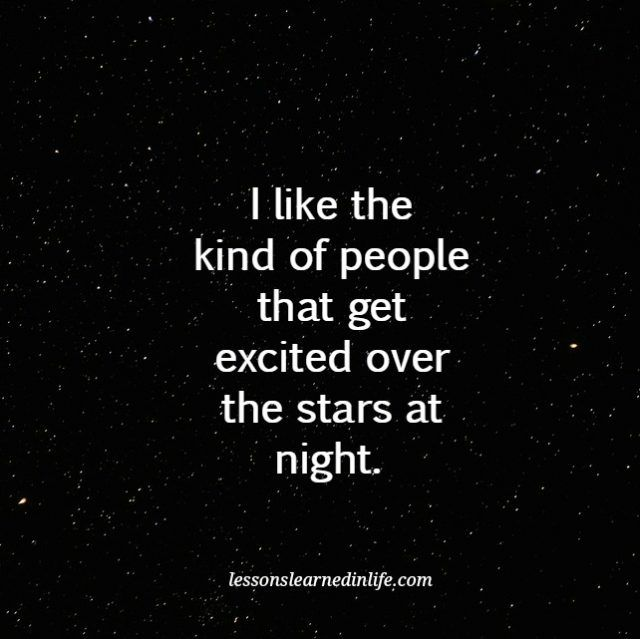 Lessons Learned in Life   The stars at night.