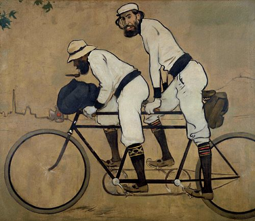 "Ramon Casas i Carbó (Catalan, 1866-1932) ~ ""Ramon Casas and Pere Romeu on a Tandem"", 1897"