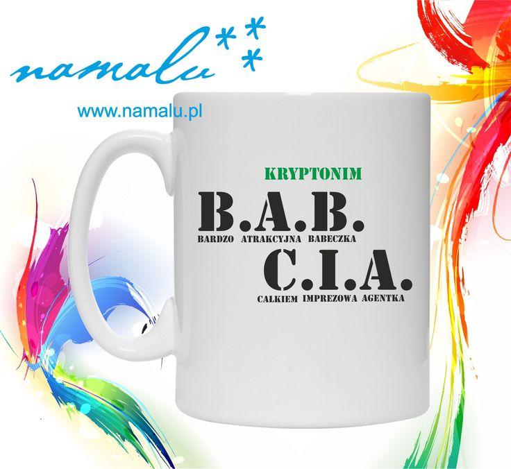 http://namalu.pl/kubki/388-kubek-kryptonim-babcia.html  kubek mug śmieszny prezent FUNNY GIFT for Grandma secret agent dla Babci dzień Babci kubeczek kawa coffee