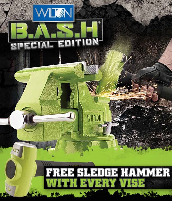 Wilton 11128BH bench vise with free sledge hammer