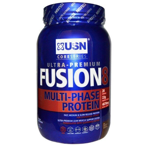 USN, Fusion 8, Ultra-Premium, Multi-Phase Protein, Milk Chocolate, 2 lbs (907 g)