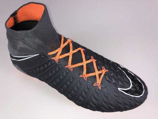 a9f651714 SR4U Reflective Bright Orange Soccer Laces on Nike Hypervenom Phantom 3  Elite DF Fast AF Pack